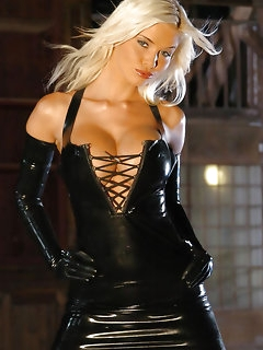 Perfect girls in latex suits