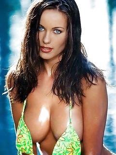 Hot nude girls poolside adventures